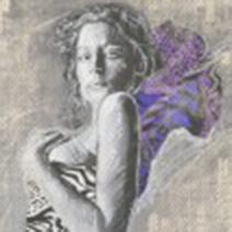 Art by Aga Czech: GIRL IN PURPLE